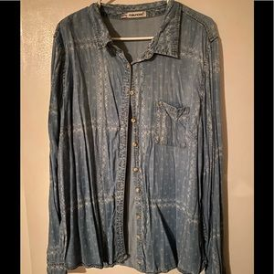 Maurices pattered denim shirt